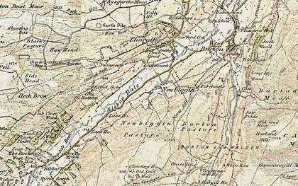 Old map of Barker in 1903-1904