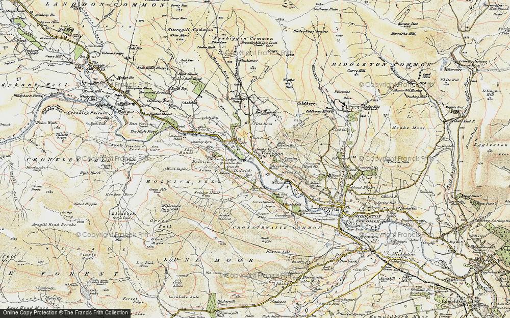 Old Map of Newbiggin, 1904 in 1904
