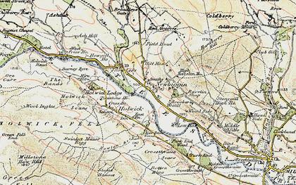 Old map of Newbiggin in 1904