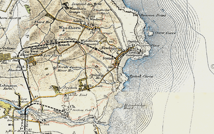 Old map of Newbiggin-by-the-Sea in 1901-1903
