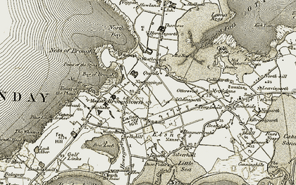 Old map of Westbrough in 1912