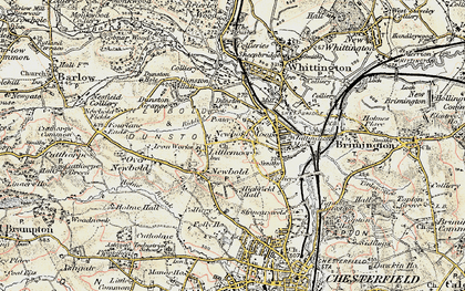 Old map of Newbold in 1902-1903