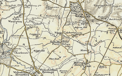 Old map of Woozeley Br in 1899-1902