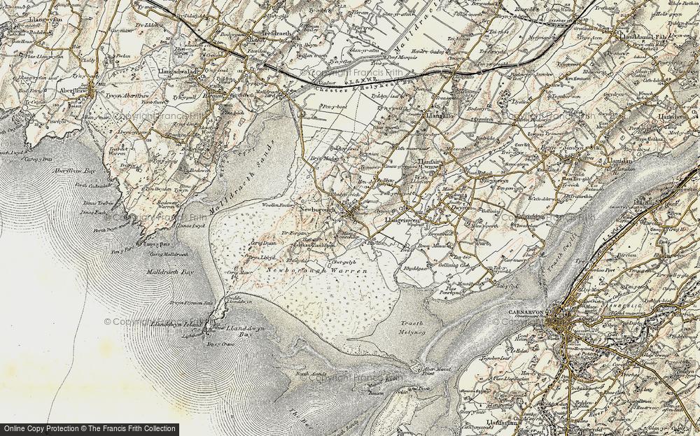 Old Map of Newborough, 1903-1910 in 1903-1910