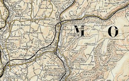 Old map of Newbridge in 1899-1900