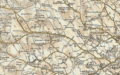 Old map of Newbridge in 1900