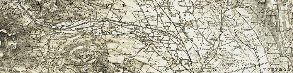 Old map of Newbridge in 1901-1905