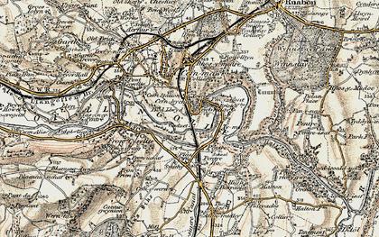 Old map of Newbridge in 1902-1903