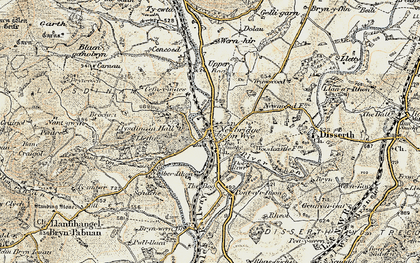 Old map of Aberithon in 1900-1903