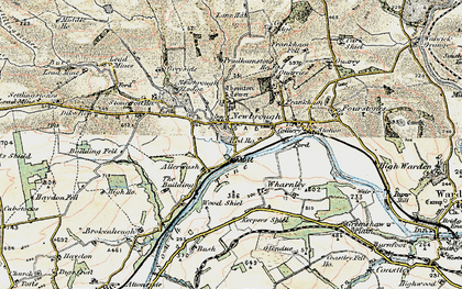 Old map of Allerwash in 1901-1904