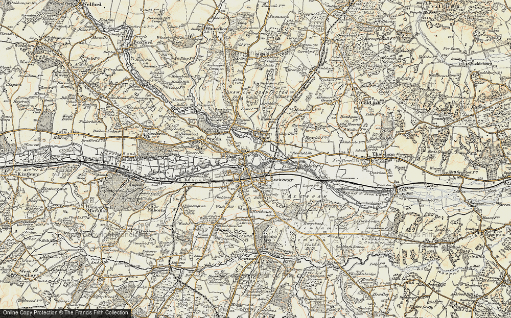 Map Of Newbury Map of Newbury, 1897 1900   Francis Frith Map Of Newbury