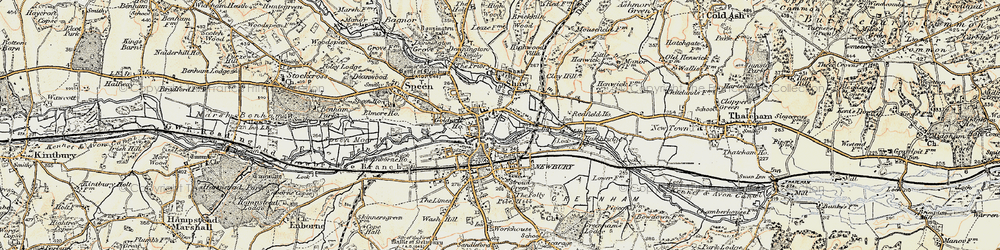 Old map of Newbury in 1897-1900