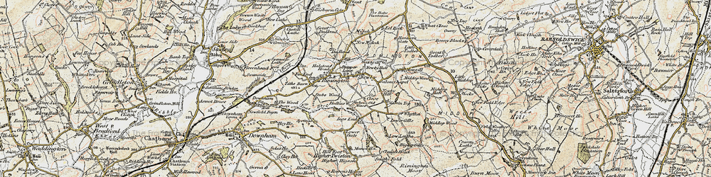 Old map of Whytha in 1903-1904