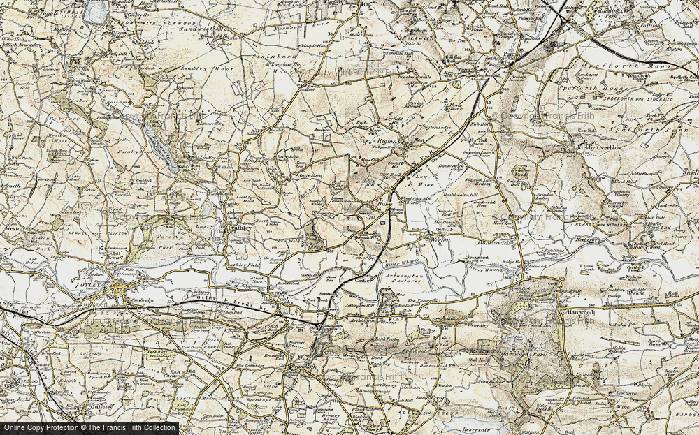 Old Map of Historic Map covering Bailey's Whins in 1903-1904