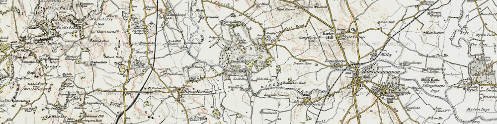 Old map of Westwick in 1903-1904