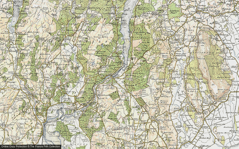 Old Map of Historic Map covering Line Riggs in 1903-1904