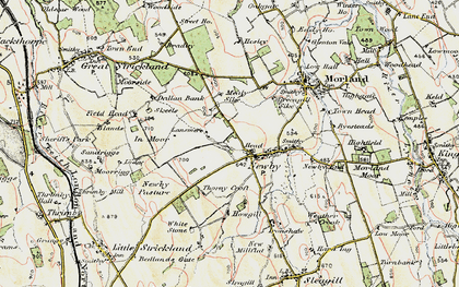 Old map of White Stone in 1901-1904