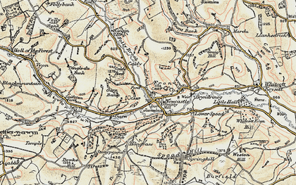 Old map of Newcastle in 1901-1903