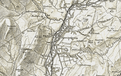Old map of Yethouse in 1901-1904