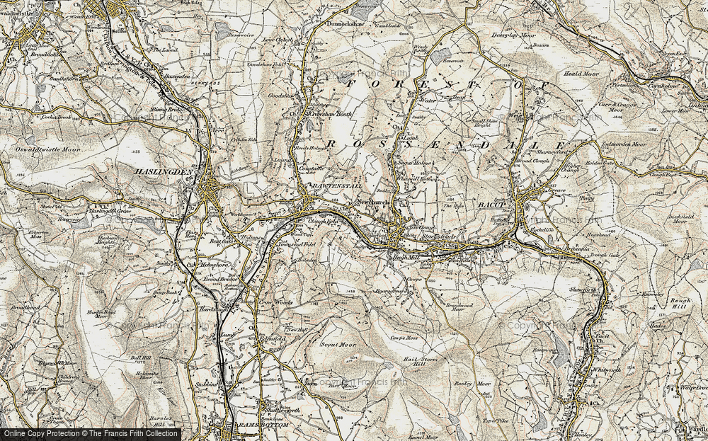 Old Map of Newchurch, 1903 in 1903