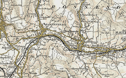 Old map of Newchurch in 1903