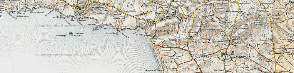 Old map of Newgale in 0-1912