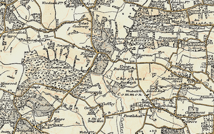 Old map of Wormley Wood in 1897-1898