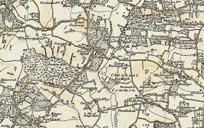 Old map of Newgate Street in 1897-1898