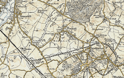 Old map of Newhall in 1902