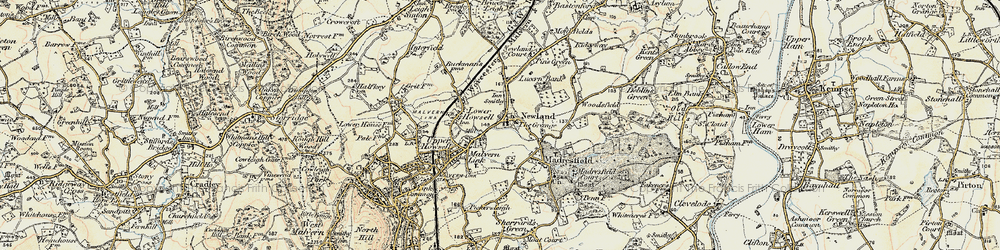 Old map of Newland in 1899-1901