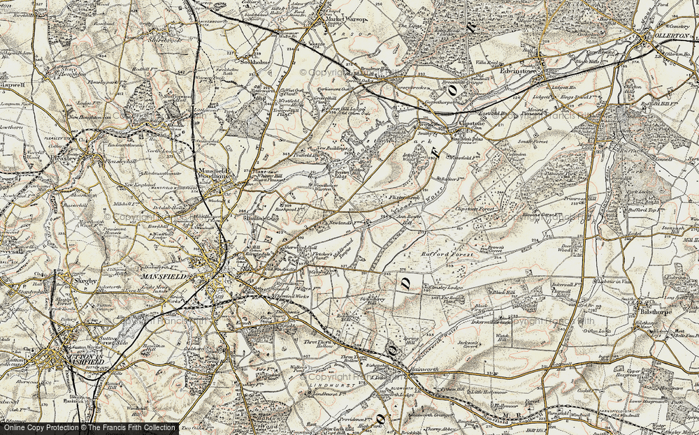 Old Map of Historic Map covering Badger Hill in 1902-1903