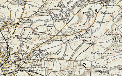 Old map of Badger Hill in 1902-1903