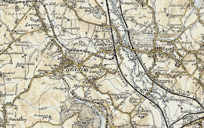 Old map of Newlands in 1902