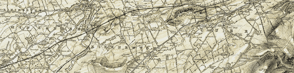 Old map of Whitemoss in 1903-1904