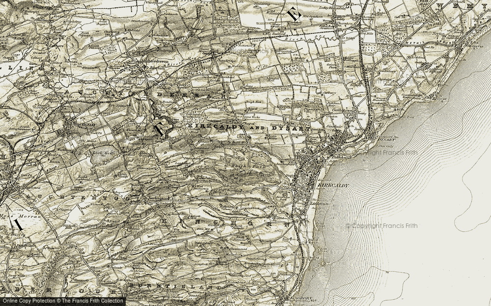 Old Map of Historic Map covering Bankhead of Raith in 1903-1906