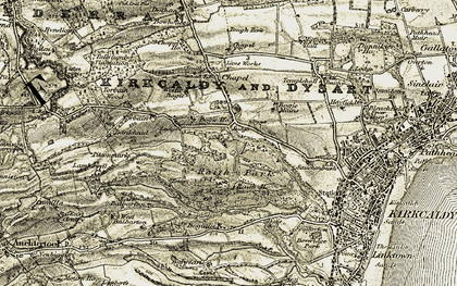 Old map of Bankhead of Raith in 1903-1906