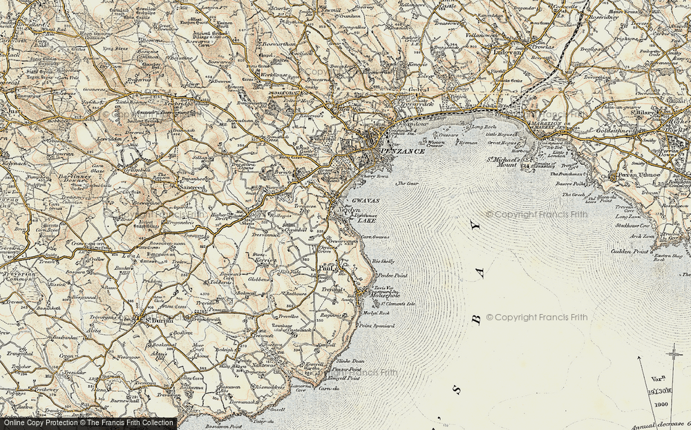Old Map of Historic Map covering Tidal Observatory in 1900