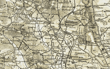 Old map of West-town in 1909-1910