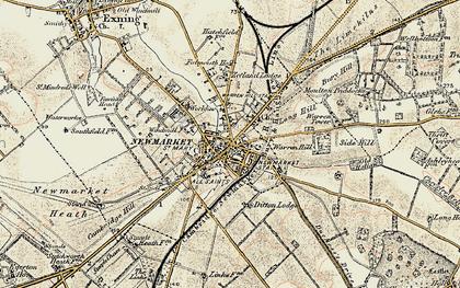 Old map of Balaton Lodge in 1899-1901
