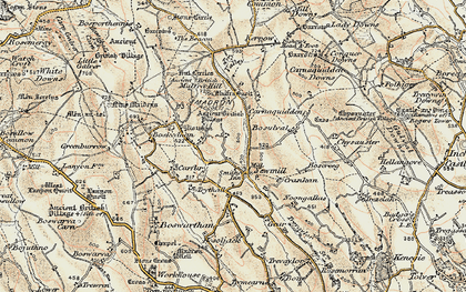 Old map of Newmill in 1900