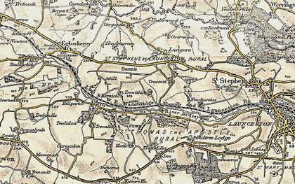 Old map of Newmills in 1900