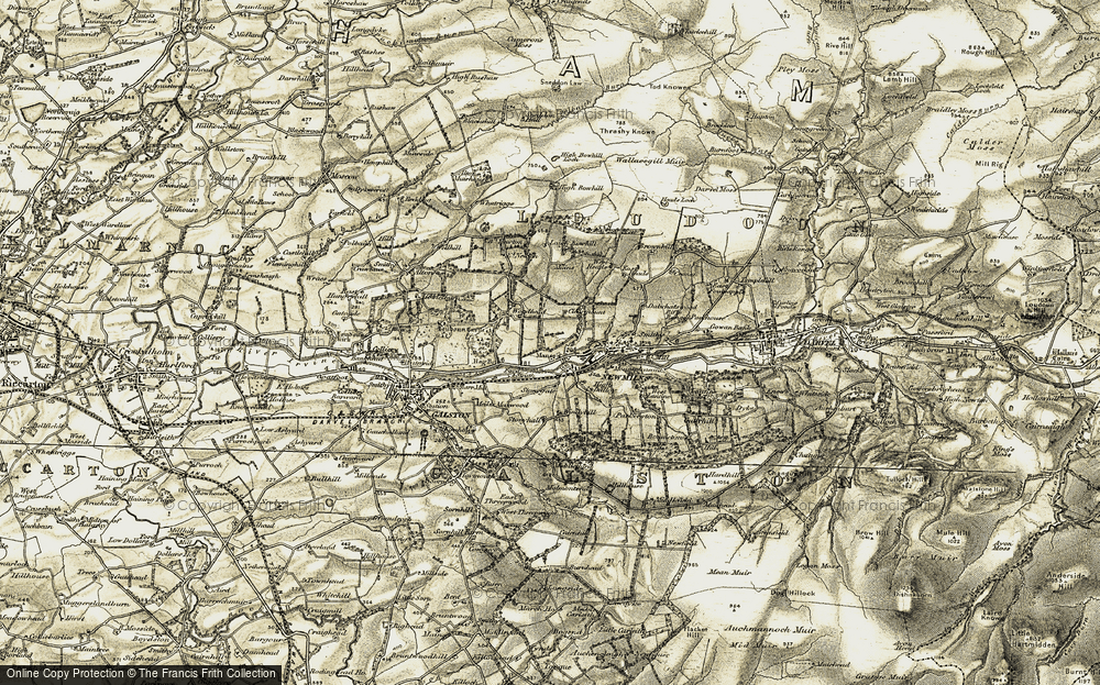 Old Map of Newmilns, 1904-1905 in 1904-1905
