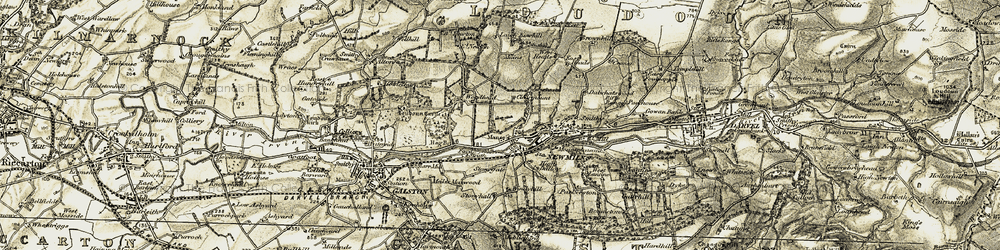 Old map of Whatriggs in 1904-1905