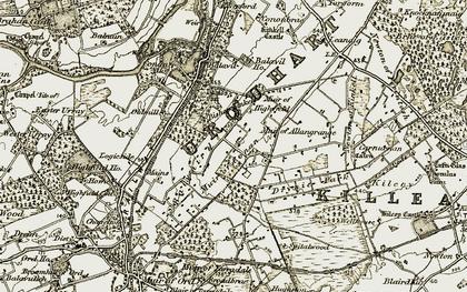 Old map of Balvaird in 1911-1912
