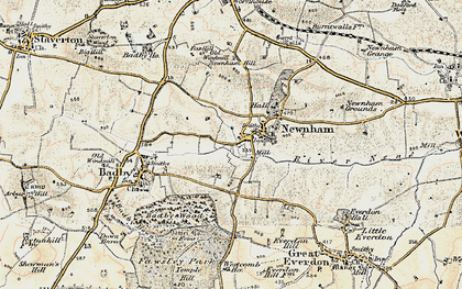 Old map of Newnham in 1898-1901