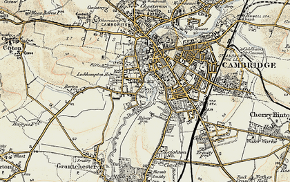 Old map of Newnham in 1899-1901