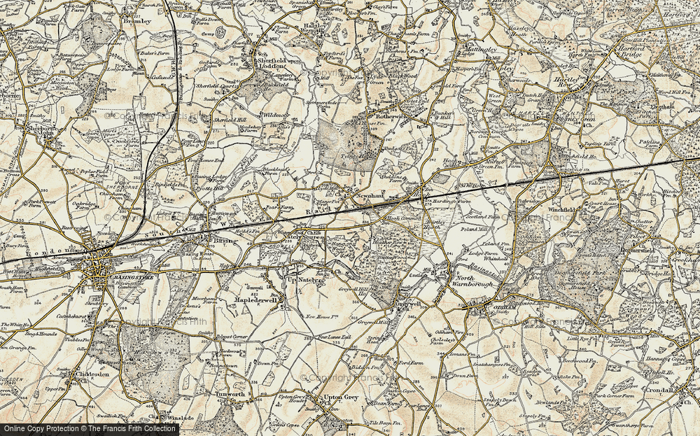 Old Map of Newnham, 1900 in 1900