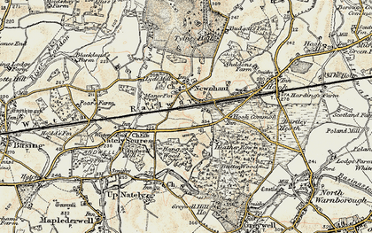 Old map of Newnham in 1900