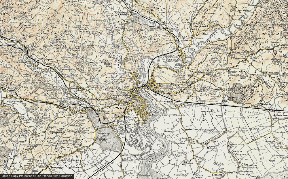 Old Map of Newport, 1899-1900 in 1899-1900