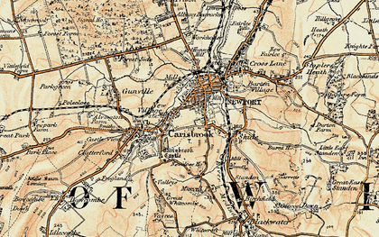 Old map of Newport in 1899